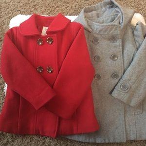 Old Navy Bundle Pea coat jacket size 2T